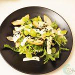 halloumi and niglla seeds salad