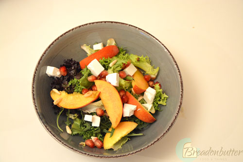 Peach-and-feta-cheese-salad-with-basil-vinaigrette-2