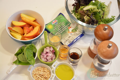 Peach-salad-ingredients