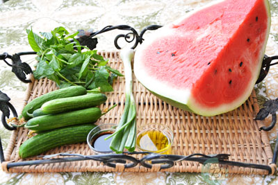 watermelon-summer-salad-ingredients-breadonbutter