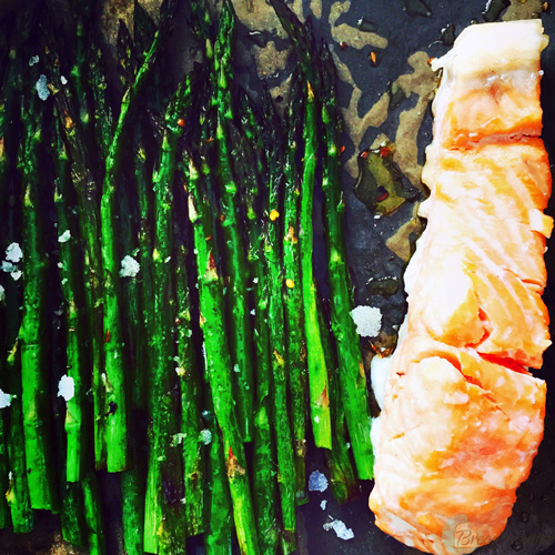 baked salmon and asparagus | breadonbutter