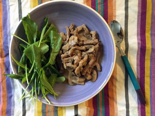 healthy beef stroganoff | breadonbutter